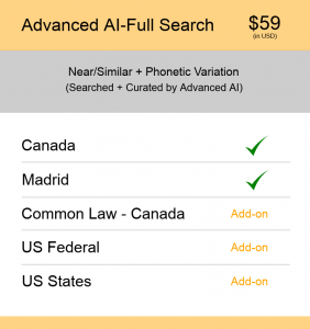 Canada TM Searching Advanced AI–Full search