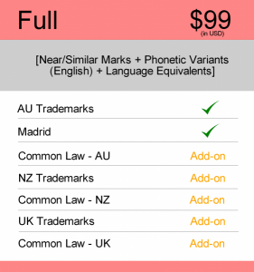 AUS & NZ TM Searching Full Search