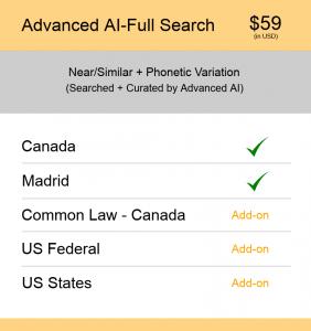 Canada TM Searching Advanced AI–Full search