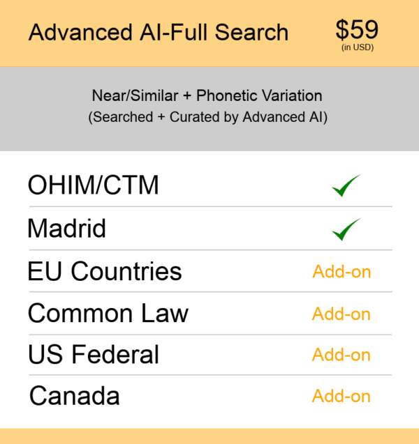 Europe TM Searching Advanced AI–Full Search