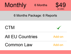 Europe Trademark Watch Package Monthly 6 Months