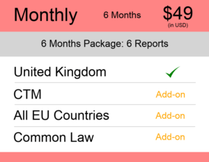 UK Trademark Watch Package Monthly 6 Months