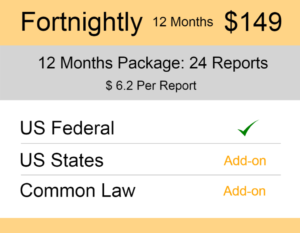 United States (US) Trademark Watch Package Fortnightly 12 Months