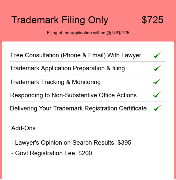 Trademark Filing Only